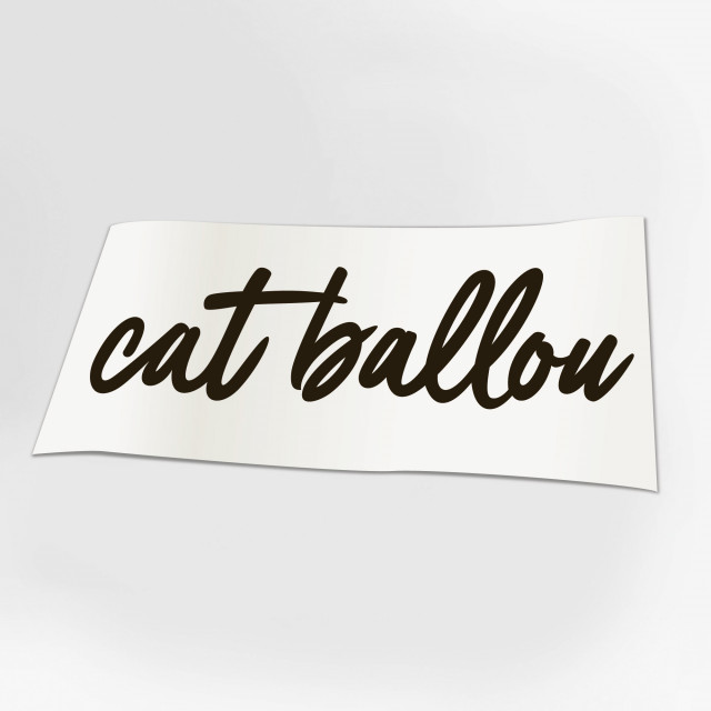 Cat Ballou Autoaufkleber SCHWARZ (Shop Art-No. a0031) | Cat Ballou