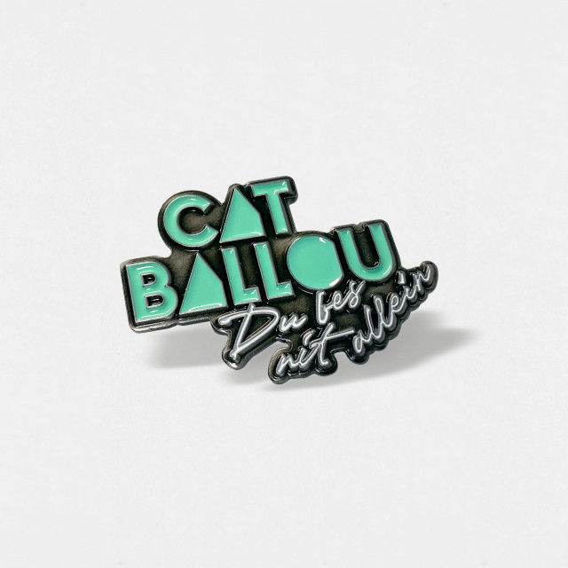Cat Ballou Pin Du bes nit allein (Shop Art-No. a0033) | Cat Ballou