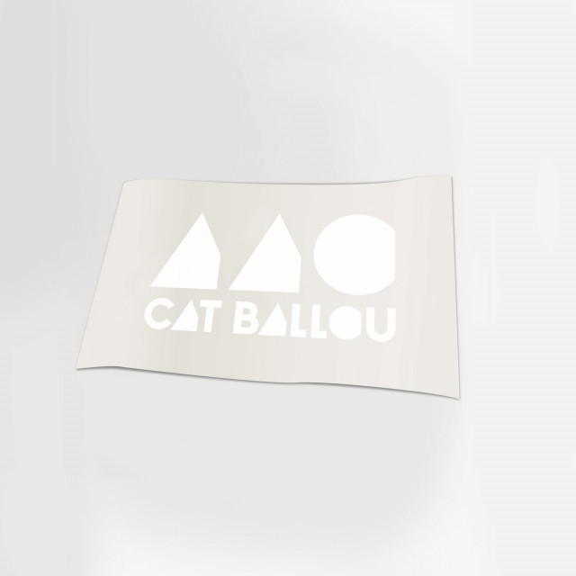 Cat Ballou Logo Autoaufkleber weiss (Shop Art-No. a0042) | Cat Ballou
