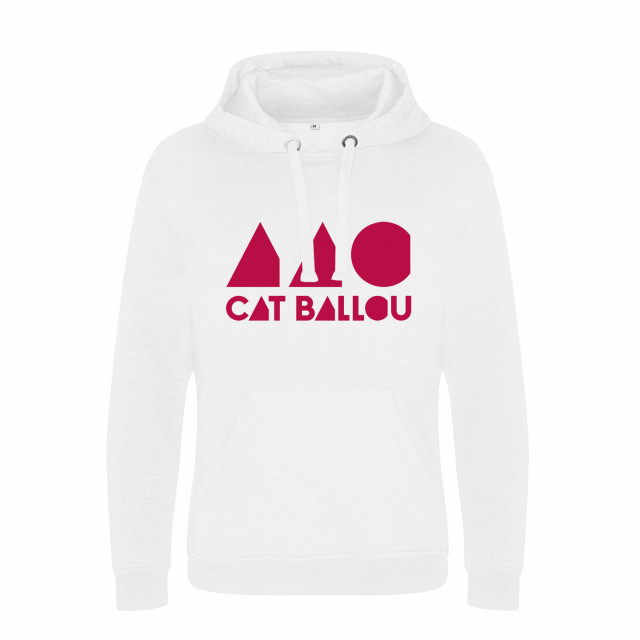 Cat Ballou Logo Hoodie, weiss (Shop Art-No. cbH00005) | Cat Ballou