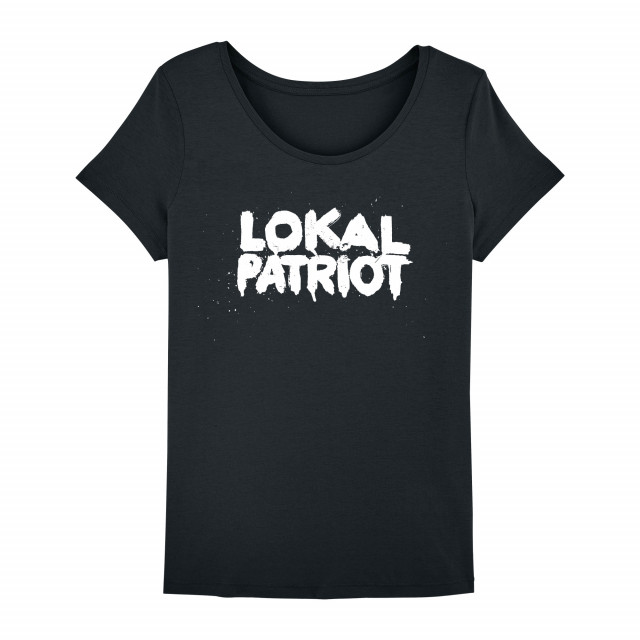Shirt-Lokalpatriot, Schwarz-Women (Shop Art-No. cbS00015) | Cat Ballou