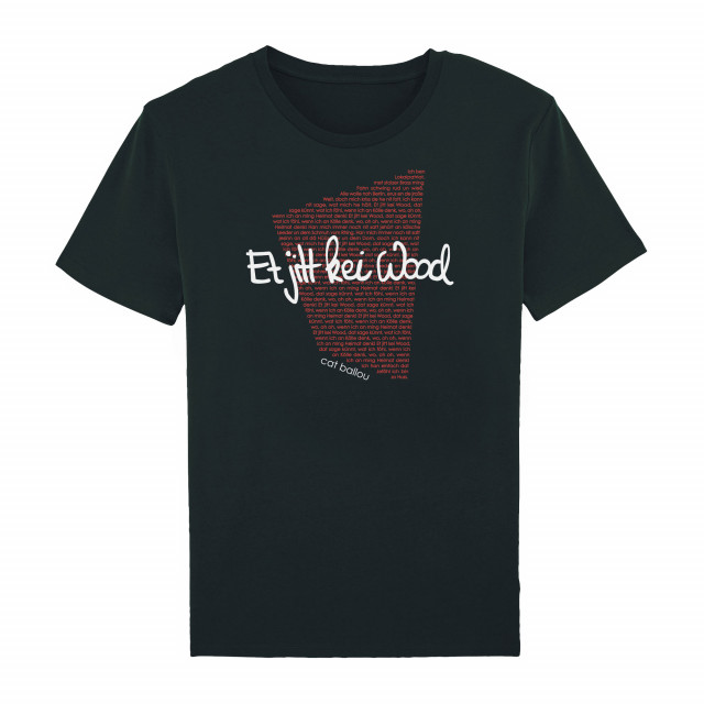 Shirt Song-Text Et jitt kei Wood (Shop Art-No. cbS00029) | Cat Ballou