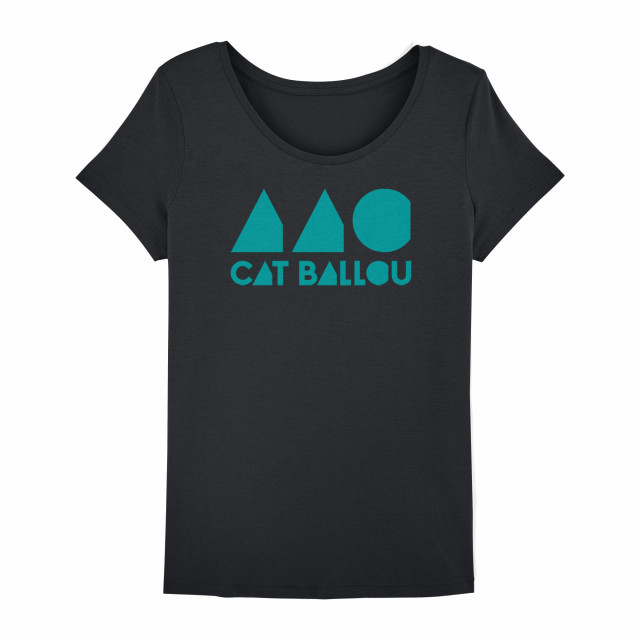 Cat Ballou Logo Shirt, woman, schwarz (Shop Art-No. cbS0036) | Cat Ballou