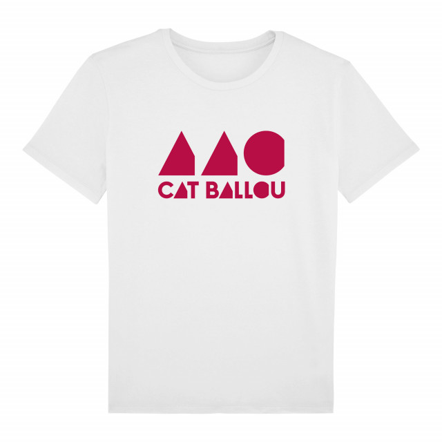 Cat Ballou Logo Shirt, unisex, weiss (Shop Art-No. cbS0037) | Cat Ballou