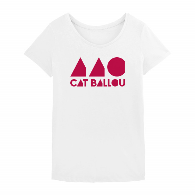 Cat Ballou Logo Shirt, woman, weiss (Shop Art-No. cbS0038) | Cat Ballou